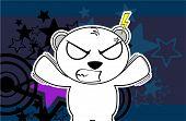 furious polar bear cartoon xmas background