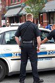 Policemen closeup