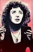 Graffiti Edith Piaf Portrait