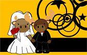 reindeer married cartoon background