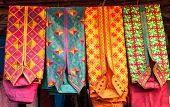 picture of stall  - various colorful kurta  - JPG