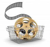 Shopping Basket and Film Strip (clipping path included)