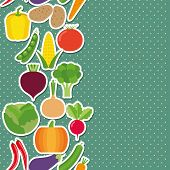 Vegetable Seamless Border Pattern. The Image Of Vegetables