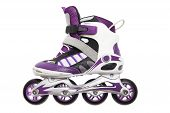 Purple and white Rollerblades