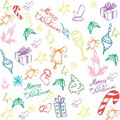 Merry Christmas pattern background.