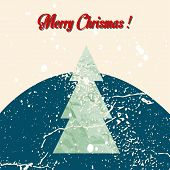 Merry Christmas grunge tree background.