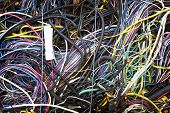 pic of reprocess  - Colorful scrap wire is baled and bundled - JPG