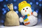 Christmas Snowman Toy And Sack
