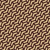 Golden Chevron Geometric Seamless Vector Abstract Pattern