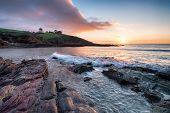 Sunrise Over Talland Bay In Cornwall