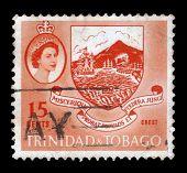Coat Of Arms And Queen Elizabeth Ii, Trinidad And Tobago