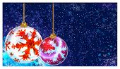 Christmas Decorative Globes With Snowflakes Ornament