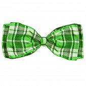 scottish bow tie isolation on a white background