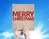Merry Christmas card with beautiful day