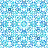 Abstract vector background Hand drawn delicate seamless ornament Blue on white
