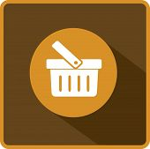 Flat Vector Shopping basket Icon