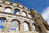 Ancient Roman amphitheater.