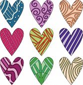 Vector heart collection