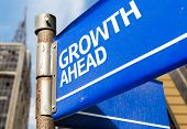 Growth Ahead blue road sign
