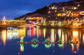 Mousehole Christmas Lights Cornwall