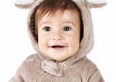 Closeup Portrait Of Funny Baby