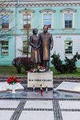Monument to Lech Kaczynski