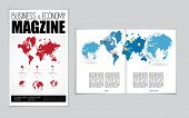 Layout magazine. Easy to editable vector