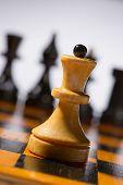 Wooden Chessboard With Chessmen