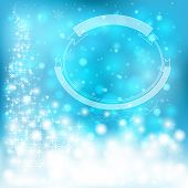 Blue Festive Christmas Background With Snowflakes And Sparkling Lights, Create By Vector