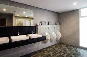 foto of pee  - Interior of a luxury public restroom in modern building - JPG