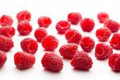 Fresh Raspberry On White Background