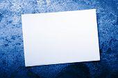Blank Card On Rusty Background