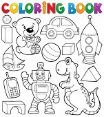 Coloring book with toys thematics 2 - eps10 vector illustration.