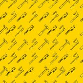 Yellow vector background for hand tools