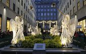 Angel Christmas Decorations at the Rockefeller Center in Midtown Manhattan