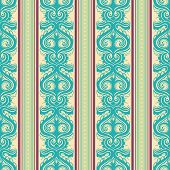 Turquoise Vintage Pattern