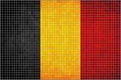 Mosaic Flag of Belgium