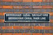 Birmingham Canal Sign.