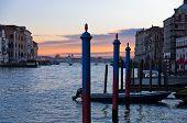 Sunrise in Venice at Grand Canal