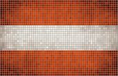 Mosaic Flag of Austria