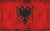 Mosaic Flag of Albania
