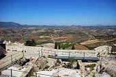 Arabic castle and olive grovews, Olvera.