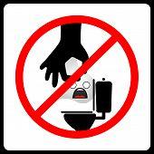 Do not Dispose tissue paper vector