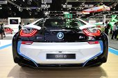 Bangkok - November 28: Back Of Bmw I8  Car On Display At The Motor Expo 2014 On November 28, 2014 In