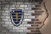 Dark Brick Wall With Plaster - Massachusetts