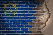 Dark Brick Wall With Plaster - Nevada