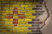 Dark Brick Wall With Plaster - New Mexico