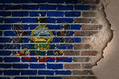 Dark Brick Wall With Plaster - Pennsylvania