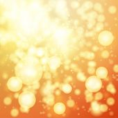 Bright golden bokeh abstract background