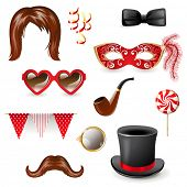 Retro - styled masquerade elements
